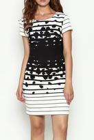 Marvy Fashion Stripe Fitted Dress