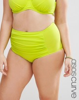 Asos Mix & Match High Waist Bikini Bottom with Ruched Sides with Support
