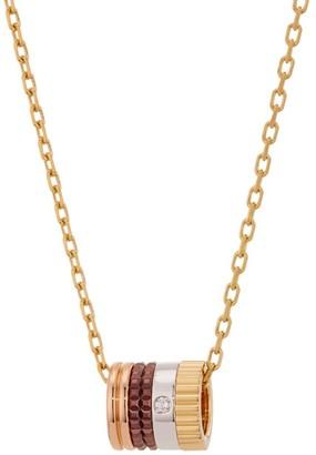 Boucheron Quatre Classique 18K Yellow Gold, Rose Gold, White Gold, Brown PVD & Diamond Pendant Necklace