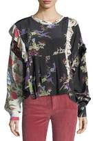 Isabel Marant Inny Bouquet Floral Mix-Print Blouse