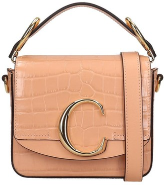 Chloé C Hand Bag In Rose-pink Leather