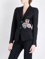 Philipp Plein Patch-embroidered twill blazer