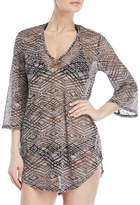 Jordan Taylor Burnout Bell Sleeve Cover-Up Tunic