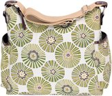 OiOi Classic Hobo Style Hobo Diaper Bag by Green Floral Disc