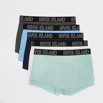 River Island Green pastel RI hipsters 5 pack