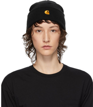 Carhartt Work In Progress Black Chase Beanie