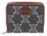 Celine Leather-Trimmed Monogram Wallet