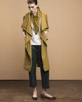 Eileen Fisher Cascade-Collar Trenchcoat, Petite