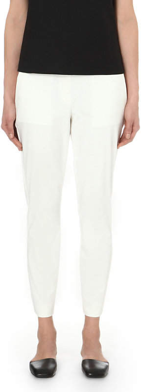 Theory Thaniel slim-fit tapered cotton-blend trousers