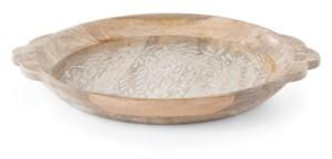 Lenox Textured Neutrals Round Wood Platter