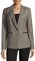Lafayette 148 New York Stelly Wool-Blend Jacket, Granite