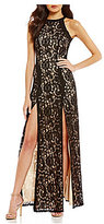 Xtraordinary High-Neck Lace Long Dress