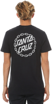 Santa Cruz Chain Dot Mens Tee Black