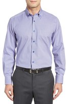 David Donahue Men's Regular Fit Plaid Sport Shirt