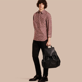 Burberry Painterly Dash Print Cotton Shirt
