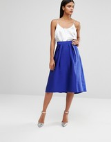 Oasis Satin Full Midi Skirt