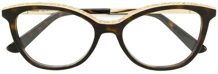 Etro tortoiseshell-effect cat-eye glasses