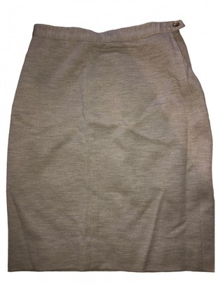 Sonia Rykiel Beige Wool Skirt for Women Vintage