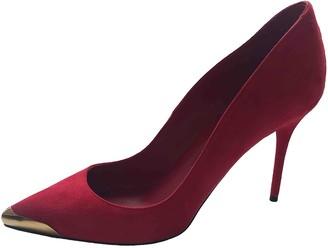 Alexander McQueen Red Suede Heels