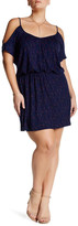 Loveappella Cold Shoulder V-Neck Dress (Plus Size)