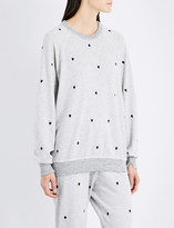 The Great Heart-embroidered cotton-blend sweatshirt