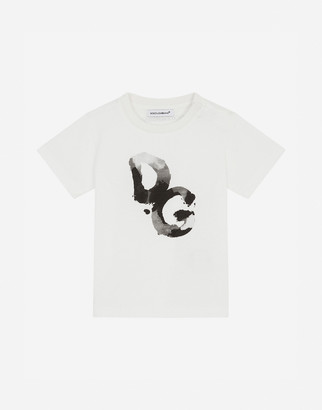 Dolce & Gabbana Jersey T-Shirt With Camouflage Print