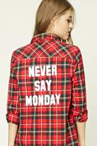 Forever 21 FOREVER 21+ Never Say Monday Plaid Shirt