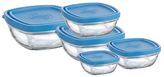 Duralex Lys Square Storage Bowls (5 PC)
