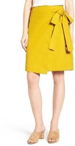 Women's Halogen Tie Front Skirt