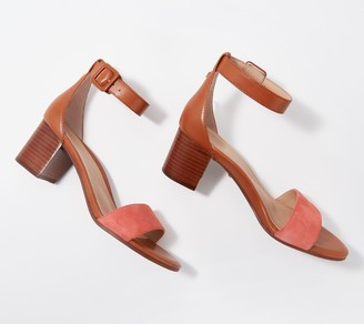 Vionic Ankle Strap Block Heeled Sandals - Rosie