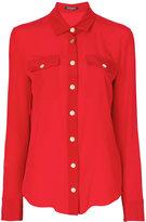 Balmain classic fitted shirt - women - Silk - 36