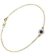 Jennifer Meyer Diamond Lapis Inlay Circle Bracelet - Yellow Gold