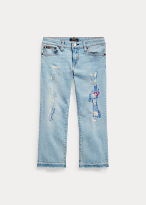 Ralph Lauren Cropped Flare Denim Jean