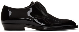 Saint Laurent Black Patent Wyatt 25 Derbys