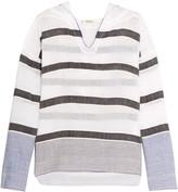 Lemlem Striped cotton-blend hooded top
