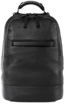 Mackage Croydon Biker Style Leather Backpack In Black