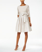 Jessica Howard Petite Pleated Fit & Flare Dress