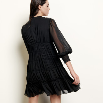 Sandro Short voile dress with ruffles