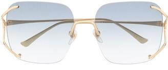 Gucci Rimless Square-Frame Sunglasses