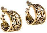 Saint Laurent Filigree Huggie Earrings
