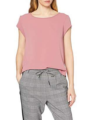 Only Women's Onlvic S/s Solid Top Noos Wvn Plain Short Sleeve Vest,10 (Manufacturer Size: )