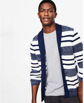 Express shawl collar striped cardigan