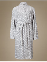 M&S Collection ShimmersoftTM Spotted Dressing Gown