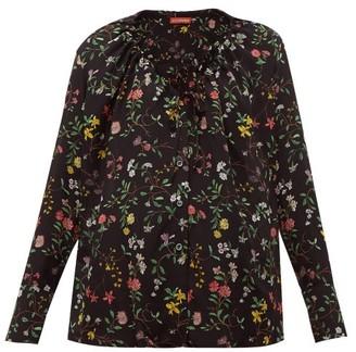 Altuzarra Bowie Floral-print Silk Blouse - Womens - Black Print