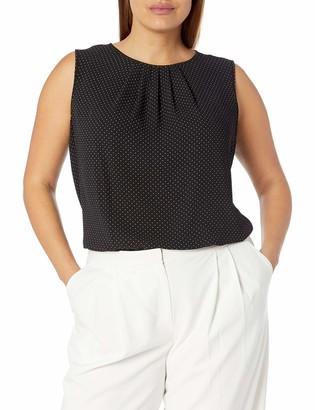 CHAPS Womens Plus Size Ruffled Cotton Sleeveless Top Shirt