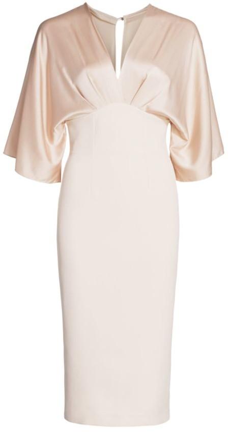 Safiyaa Ionie Fluid Silk Crepe Cocktail Dress