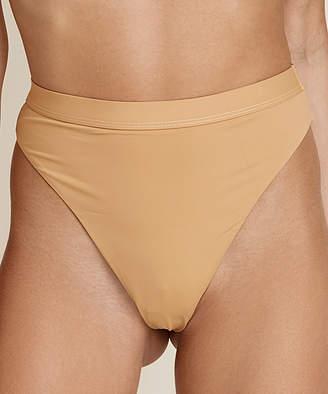 BEIGE Dippin' Daisy's Swimwear Women's Bikini Bottoms nude Seamless High-Waist Cheeky Banded Bikini Bottoms - Women