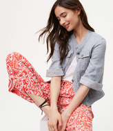 LOFT Paisley Fluid Pants
