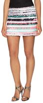 Milly Couture Illusion Stripe Mini Skirt