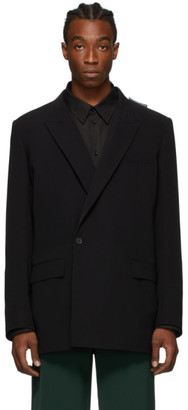 Balenciaga Black 80s Shoulder Blazer